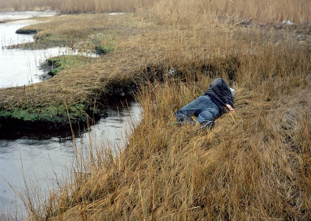 Jimmy's body in the salt marsh