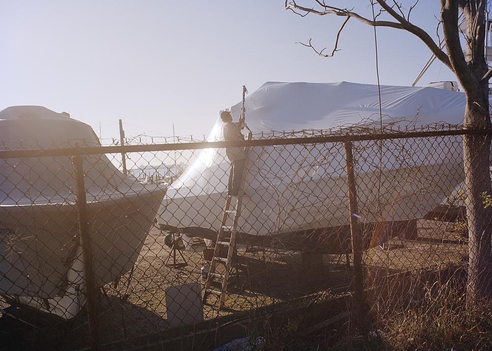 Boat sealing at Deadhorse Bay