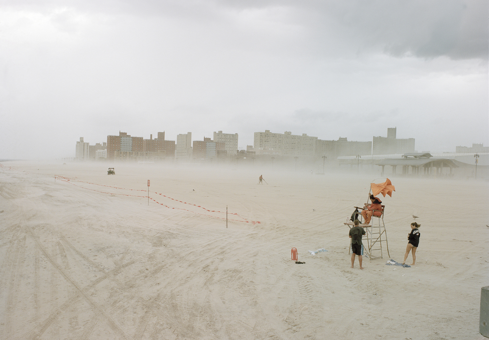 Dust storm at Coney Island
