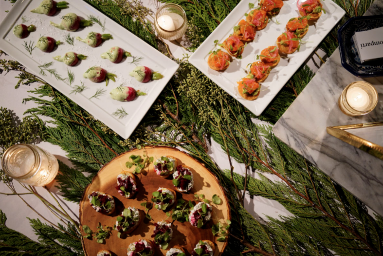 Comparti catering at EventMates & Splacer's Holiday Preview Party