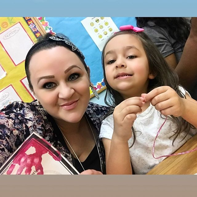 My first #mothersday lunch with #destinyvillalobos at her school. So fun! Love this little girl so much!! #happymothersday #bracelets #motherhood #daughtersareawesome