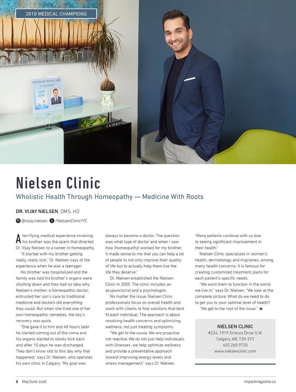IMPACT MAGAZINE - TOP DOCTOR - Dr. Vijay Nielsen