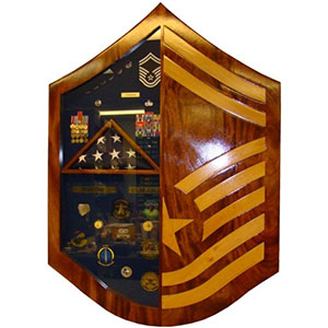 xl top 3 rank shadow box master sergeant msgt