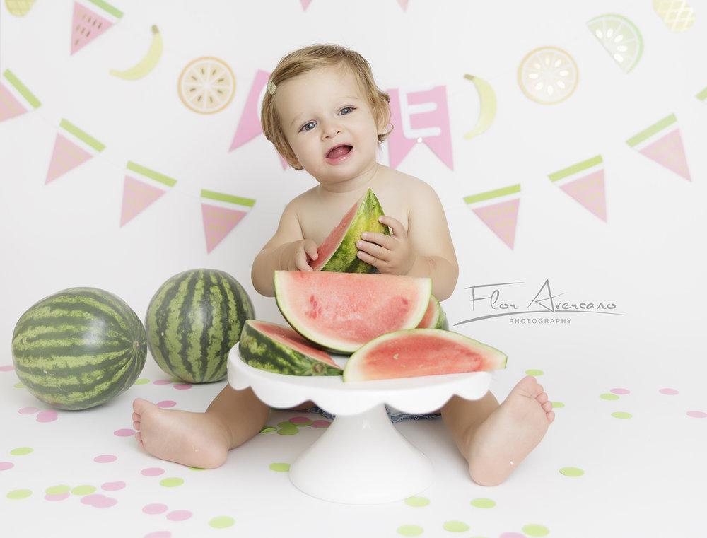 cake smash watermelon