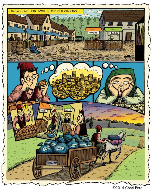 """Onions & Garlic"" Page 1"