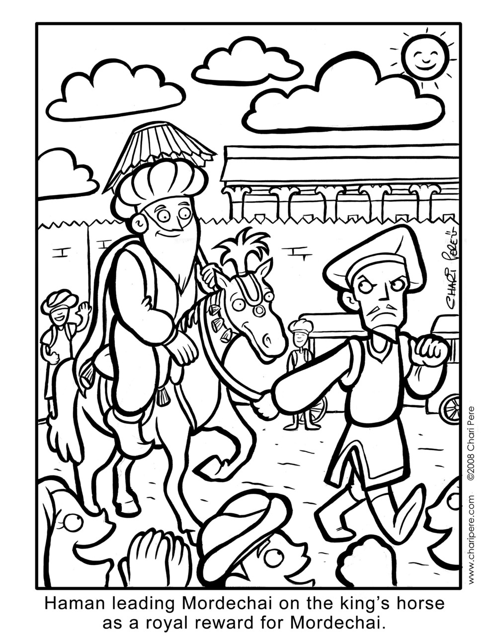 Kids' Purim Coloring Page for The Orthodox Union
