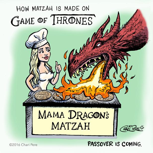 """""""Mama Dragon's Matzah"""""""