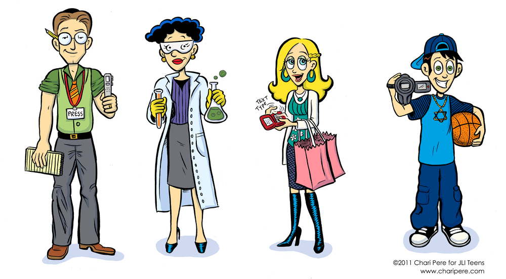 Character Designs for JLI Teens