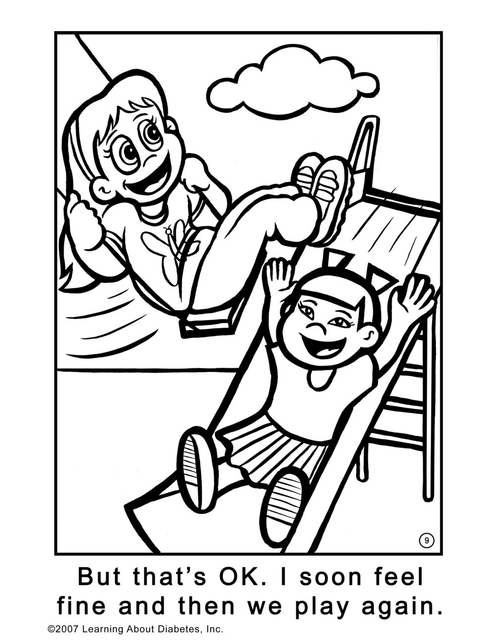 "Coloring Page for ""Welcome To MY World!"""