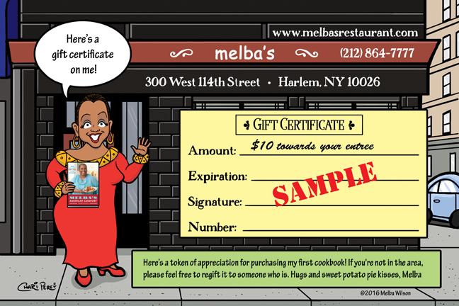"""""""Melba's Gift Certificate"""""""