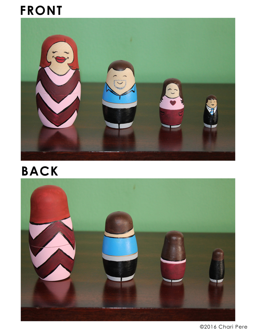 Russian Nesting Doll Caricatures #1