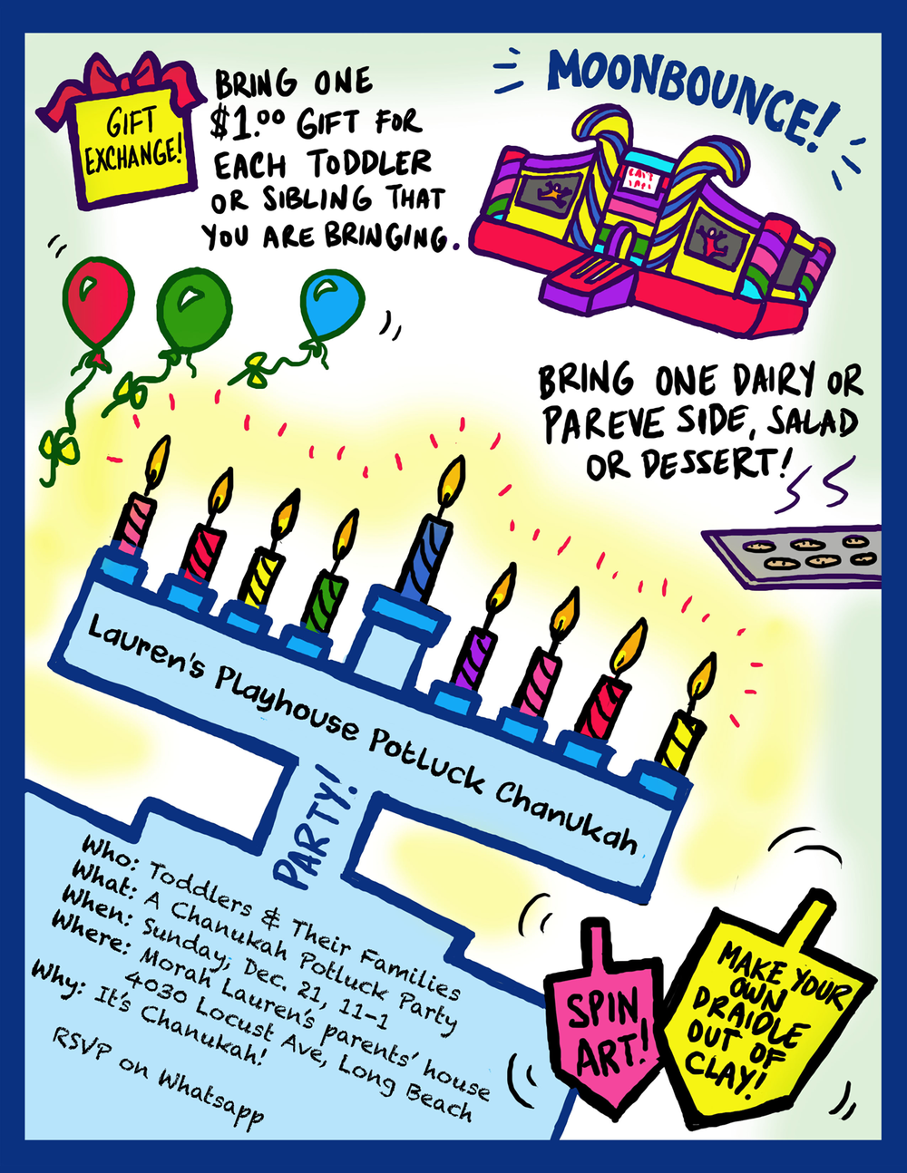 Kids' Chanukah Party Flyer