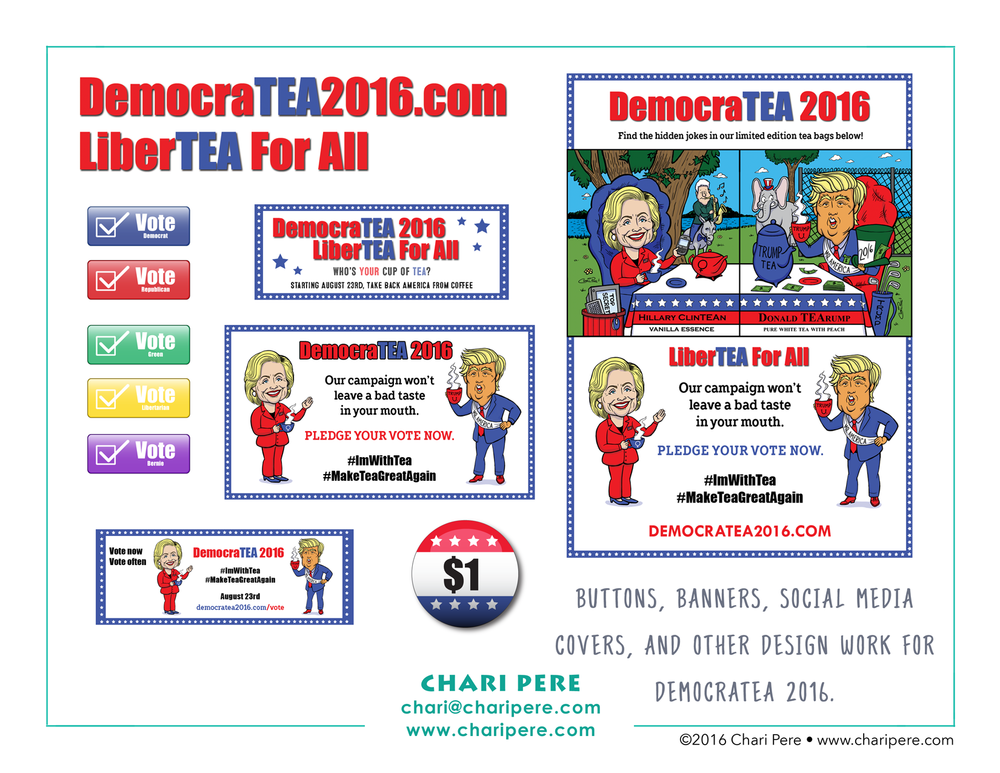 DemocraTEA 2016 PoliTEAcal Tea Campaign