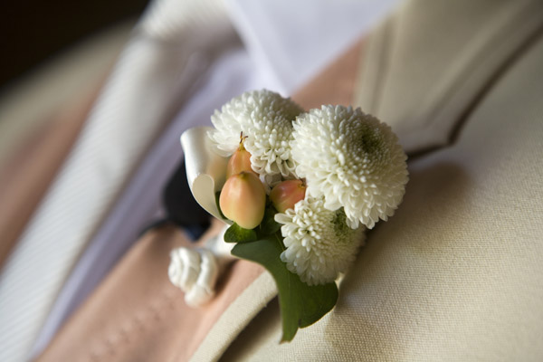 www.santabarbarawedding.com | Our Lady of Mount Carmel Ceremony | Melissa Musgrove Photography | Boutonniere