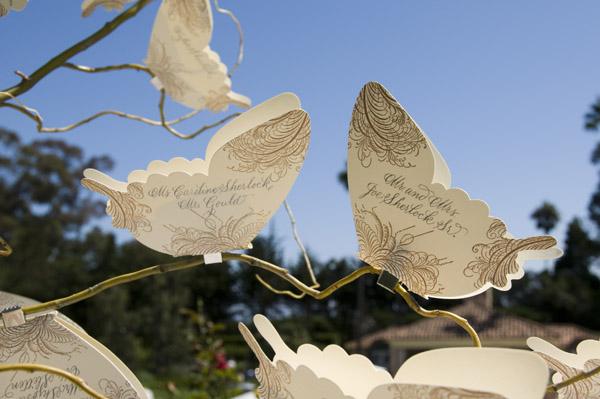 www.santabarbarawedding.com | Our Lady of Mount Carmel Ceremony | Melissa Musgrove Photography | Escort Cards