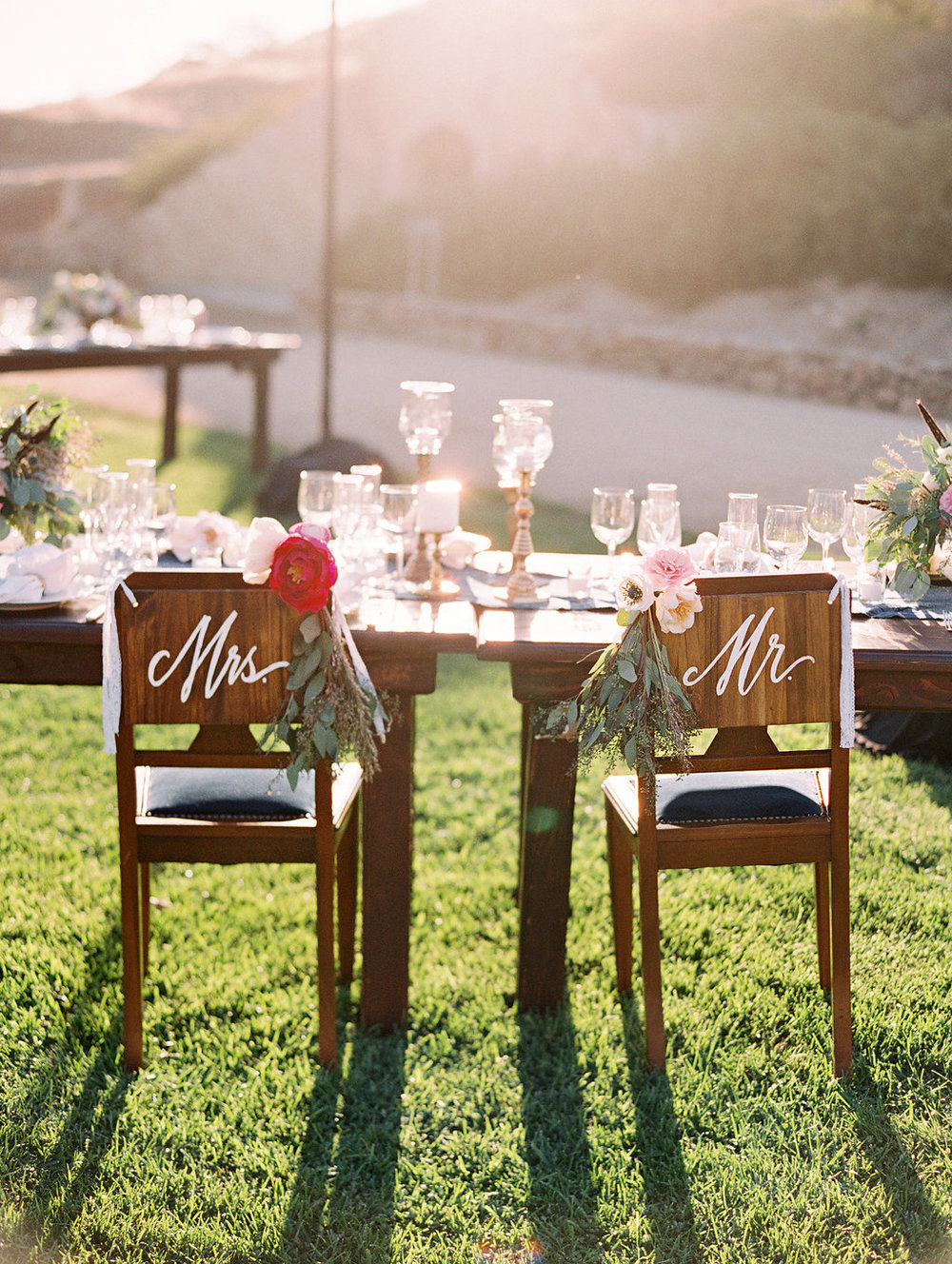 www.santabarbarawedding.com | Lavender and Twine | Sunstone Winery | Bride and Groom's Chairs | Reception
