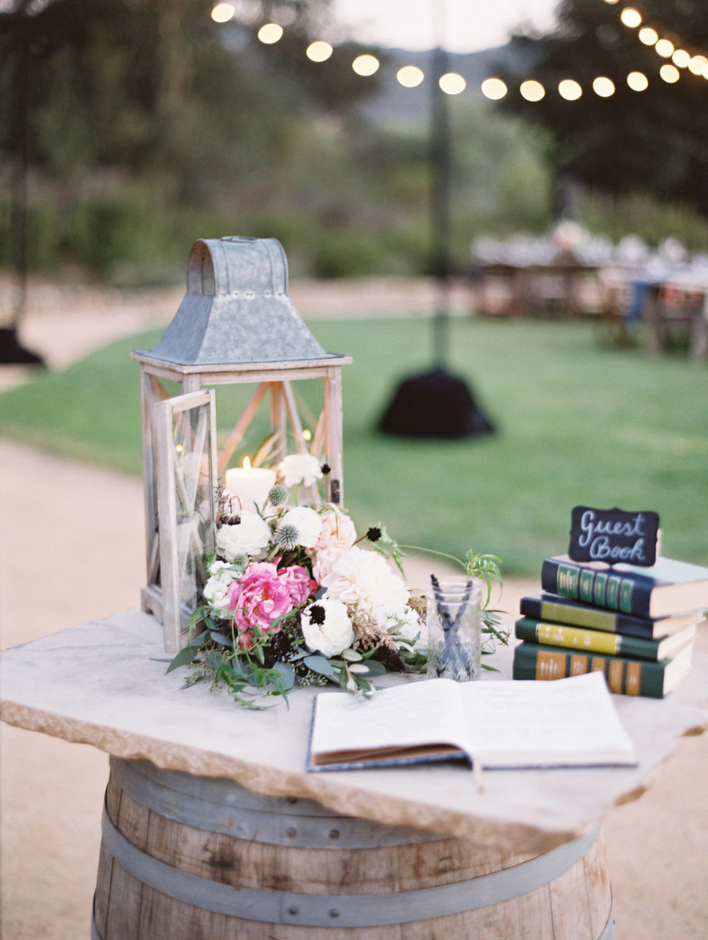 www.santabarbarawedding.com | Lavender and Twine | Sunstone Winery | Guest Book