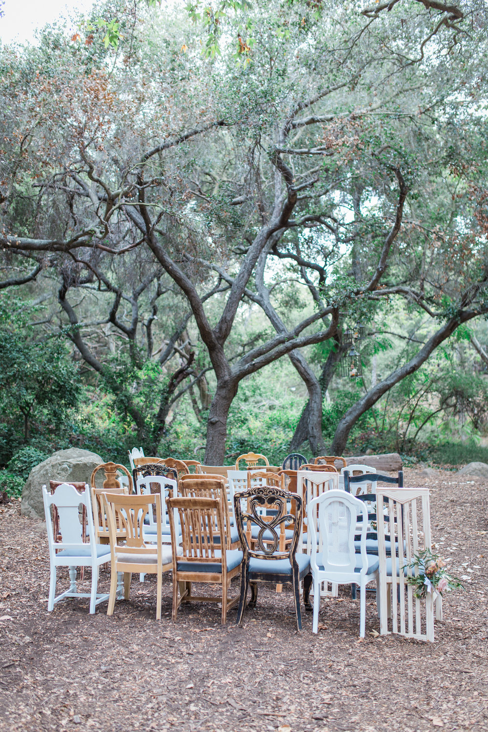 santabarbarawedding.com | photo: Kiel Rucker | Same Sex Wedding Ceremony in an Oak Grove