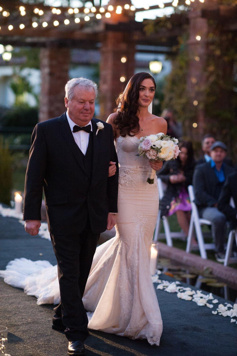www.santabarbaraweddingstyle.com | Santa Barbara Wedding Style | Felici Events | El Encanto Wedding | Nate and Jenny Weddings | Father of the Bride and Bride | Precious and Blooming | Wedding Ceremony