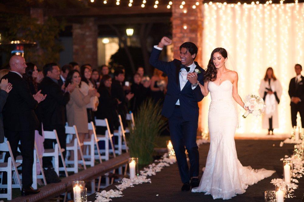 www.santabarbaraweddingstyle.com | San | Felici Events | El Encanto | Nate & Jenny Weddings | Bellavista Designs Lighting | Precious and Blooming | Wedding Ceremony | Bride and Groom