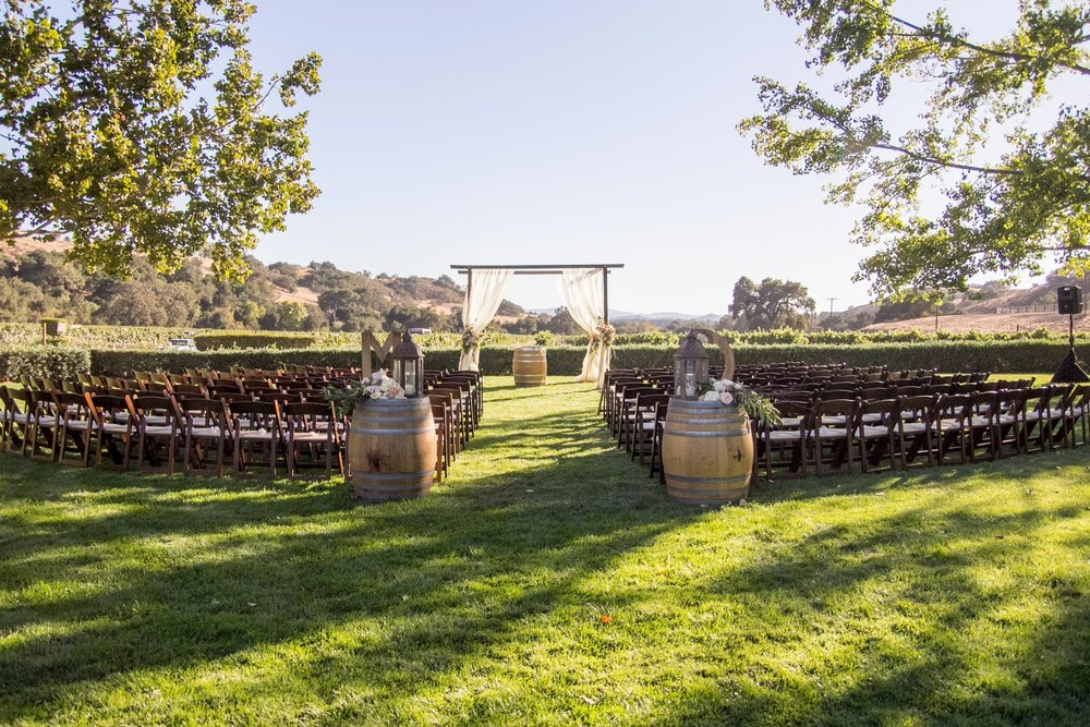 www.santabarbarawedding.com | Fess Parker Winery Location Spotlight | Waller Weddings | Wedding Ceremony | Vineyard Wedding