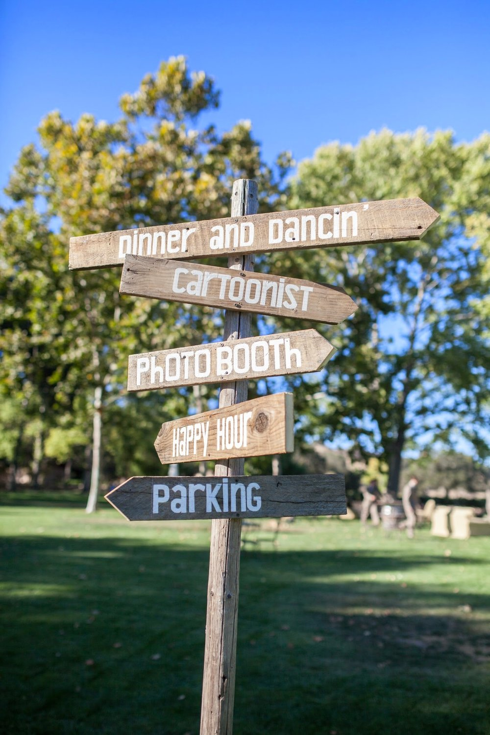 www.santabarbarawedding.com | Fess Parker Winery Location Spotlight | Waller Weddings | Wedding Signage | Vineyard Wedding