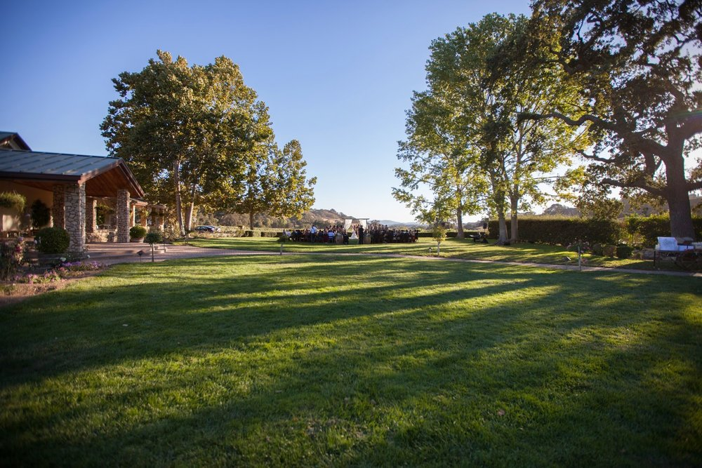 www.santabarbarawedding.com | Fess Parker Winery Location Spotlight | Waller Weddings | Wedding Ceremony Lawn | Vineyard Wedding