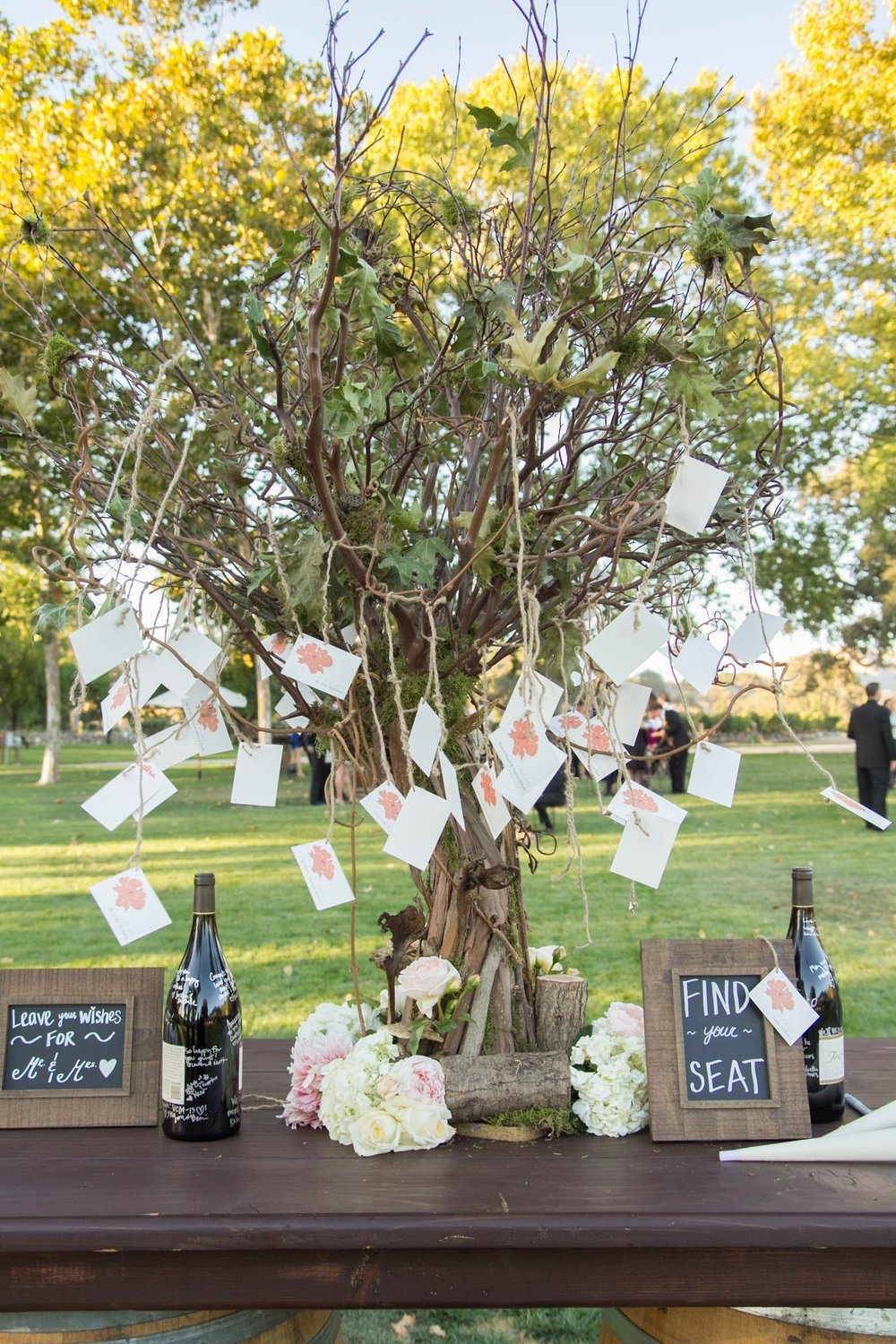 www.santabarbarawedding.com | Fess Parker Winery Location Spotlight | Waller Weddings | Wine Country Wedding | Escort Card Display