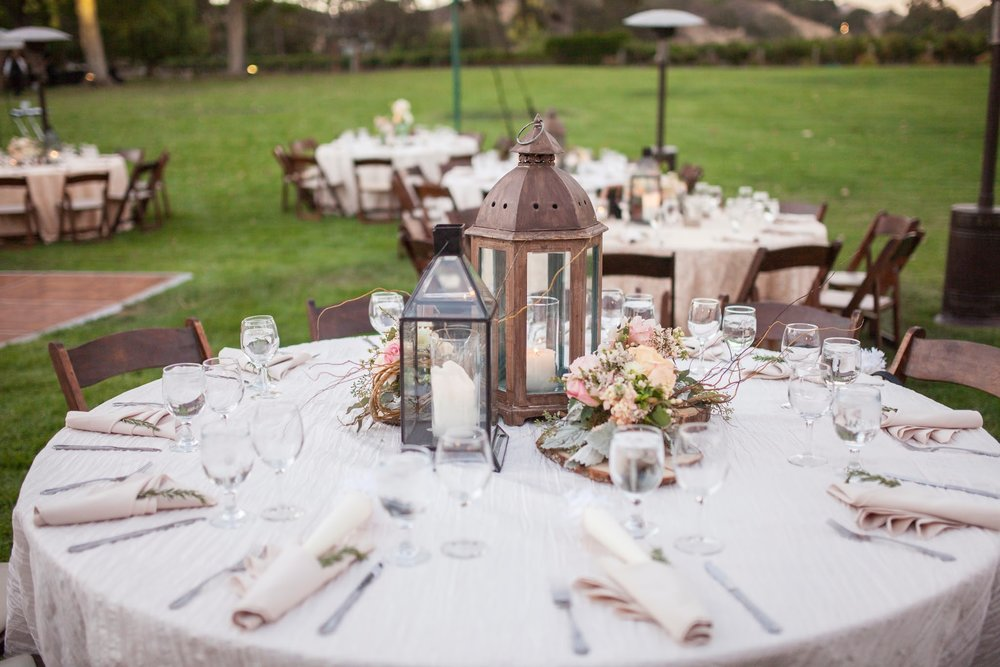 www.santabarbarawedding.com | Fess Parker Winery Location Spotlight | Waller Weddings | Wine Country Wedding | Reception Table Set Up