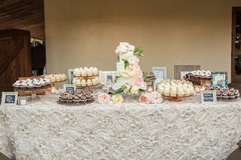 www.santabarbarawedding.com | Fess Parker Winery Location Spotlight | Waller Weddings | Wine Country Wedding | Dessert and Cake Display