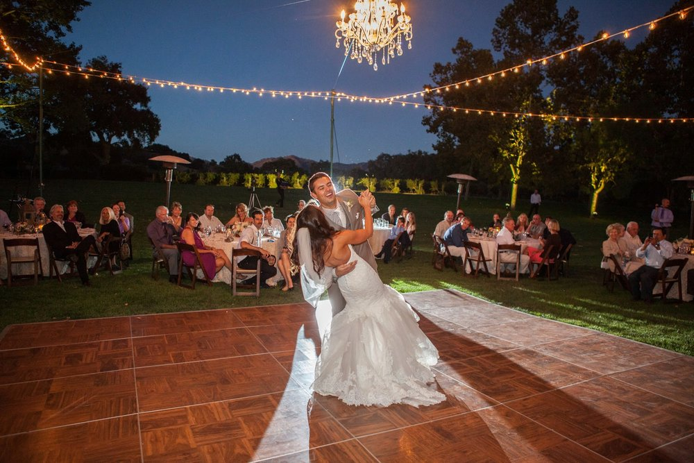 www.santabarbarawedding.com | Fess Parker Winery Location Spotlight | Waller Weddings | Wine Country Wedding | Dancing and Dance Floor