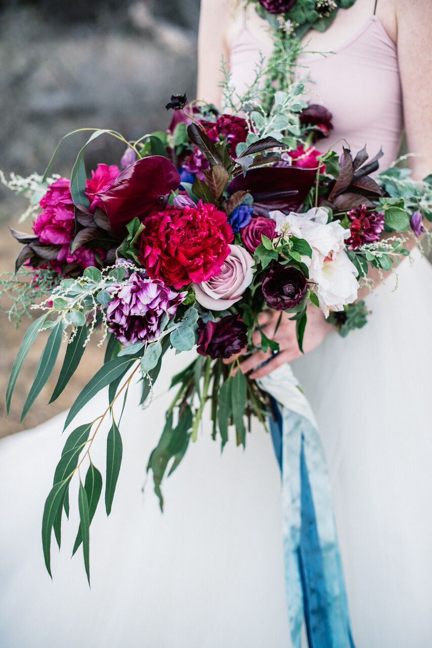 santabarbarawedding.com | Ella & Louie Floral Design | Florist | Wedding Flowers | Burgundy Bouquet | Bridal Bouquet