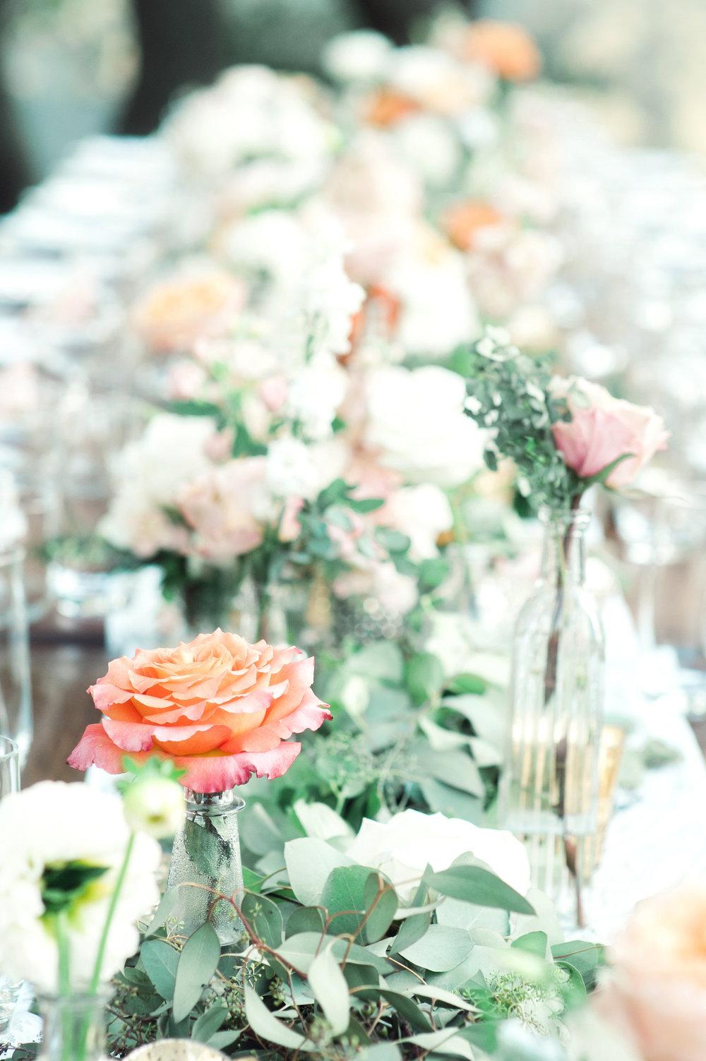 santabarbarawedding.com | Wisteria Lane Flroal Design Studio | Bride and Groom | Garden Roses | Table Decor | Wedding Floral