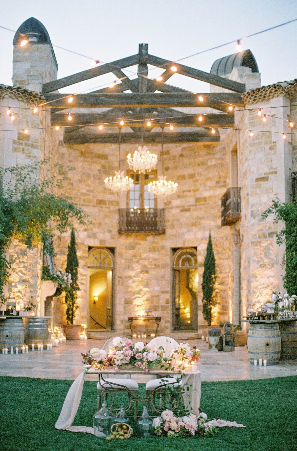 santabarbarawedding.com | SPARK Creative Events | Villa at Sunstone Lighting