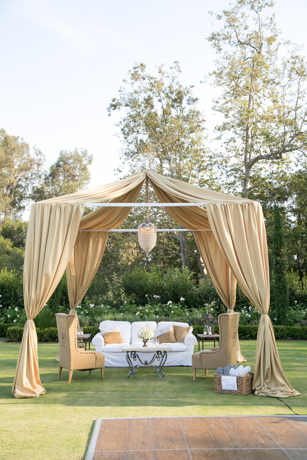 santabarbarawedding.com | SPARK Creative Events | Gold Cabana