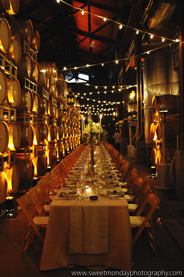 santabarbarawedding.com | SPARK Creative Events | Barrel Room Lighting