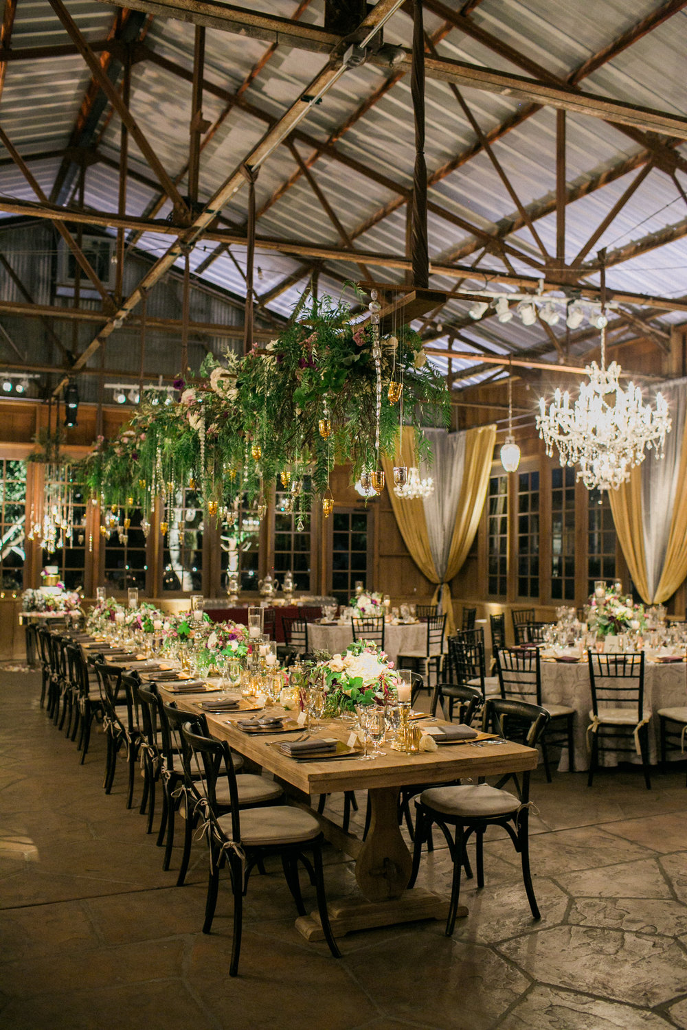 santabarbarawedding.com | SPARK Creative Events | Barn Lighting