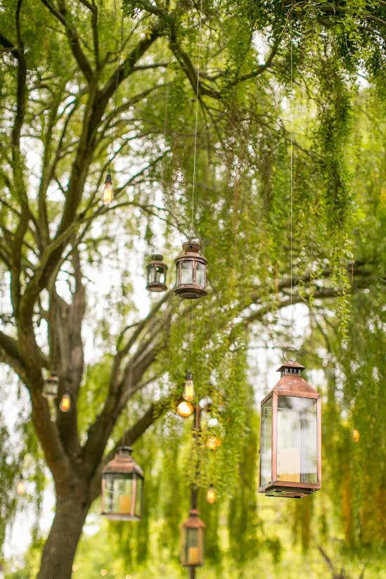 santabarbarawedding.com | SPARK Creative Events | Hanging Copper Lanterns
