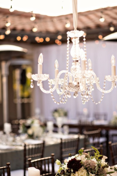 santabarbarawedding.com | SPARK Creative Events | Five Light Chandelier Rotunda Terrace