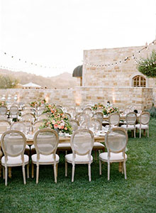 santabarbarawedding.com | The Tent Merchant | Chair Table China Rentals