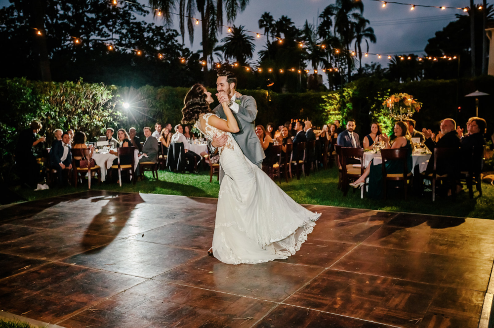 santabarbaraweddingstyle.com | DJ Zeke | First Dance Couple
