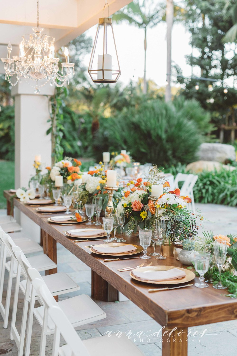santabarbarawedding.com | Savoir Faire Catering | Anna Dolores Photo | Table Lay out