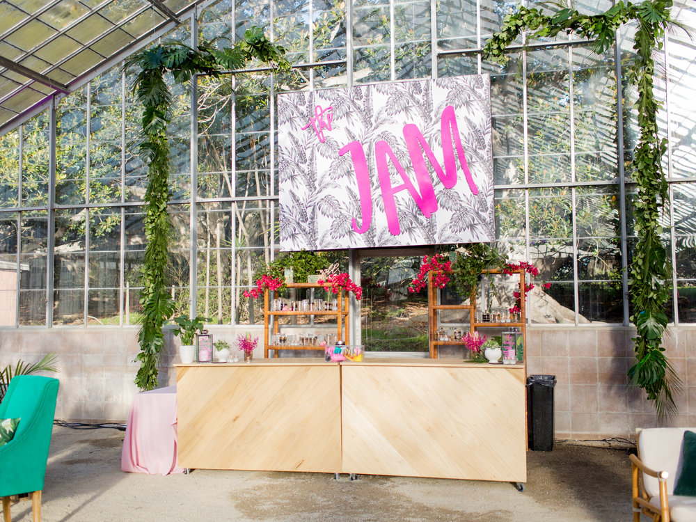 santabarbarawedding.com | The Jam Event | Orchid Farm | Bar decor
