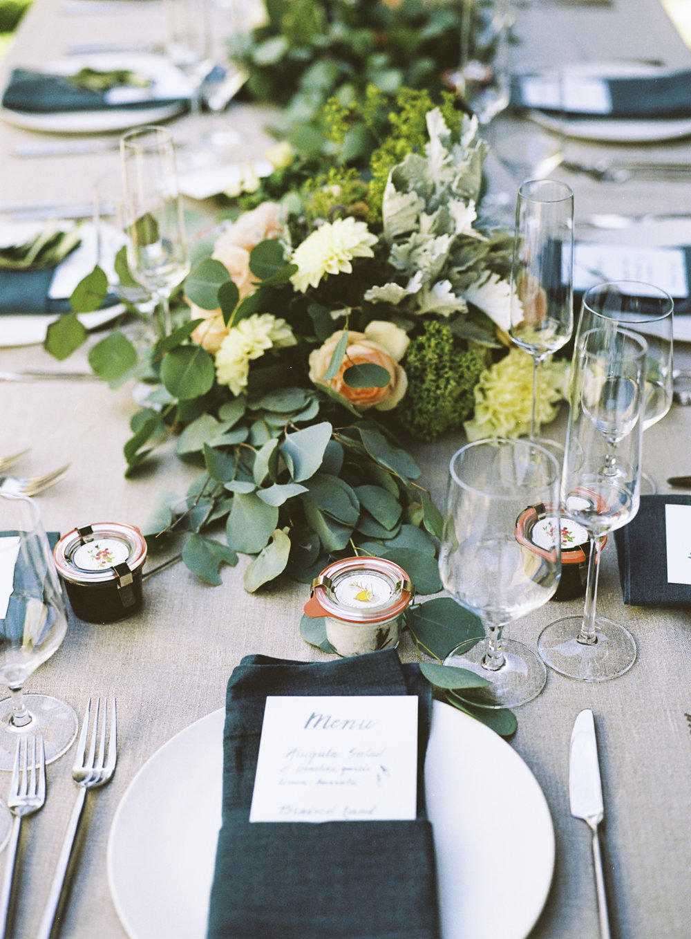 www.santabarbarawedding.com | Coco Rose Design | Floral | Wedding Flowers | Reception Table