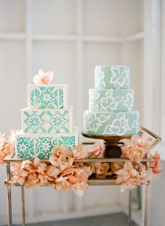 www.santabarbarawedding.com | Lele Patisserie | Wedding Cake | Wedding Cakes | Teal Cake