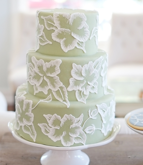 www.santabarbarawedding.com | Lele Patisserie | Wedding Cake | Wedding Cakes | Green Cake