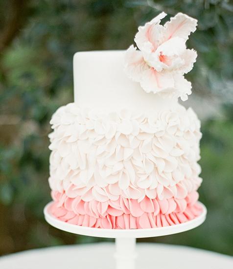 www.santabarbarawedding.com | Lele Patisserie | Wedding Cake | Wedding Cakes | Pink Ruffle Cake