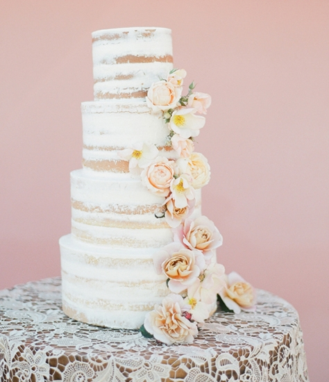 www.santabarbarawedding.com | Lele Patisserie | Wedding Cake | Wedding Cakes | Four Tier Frosted Cake