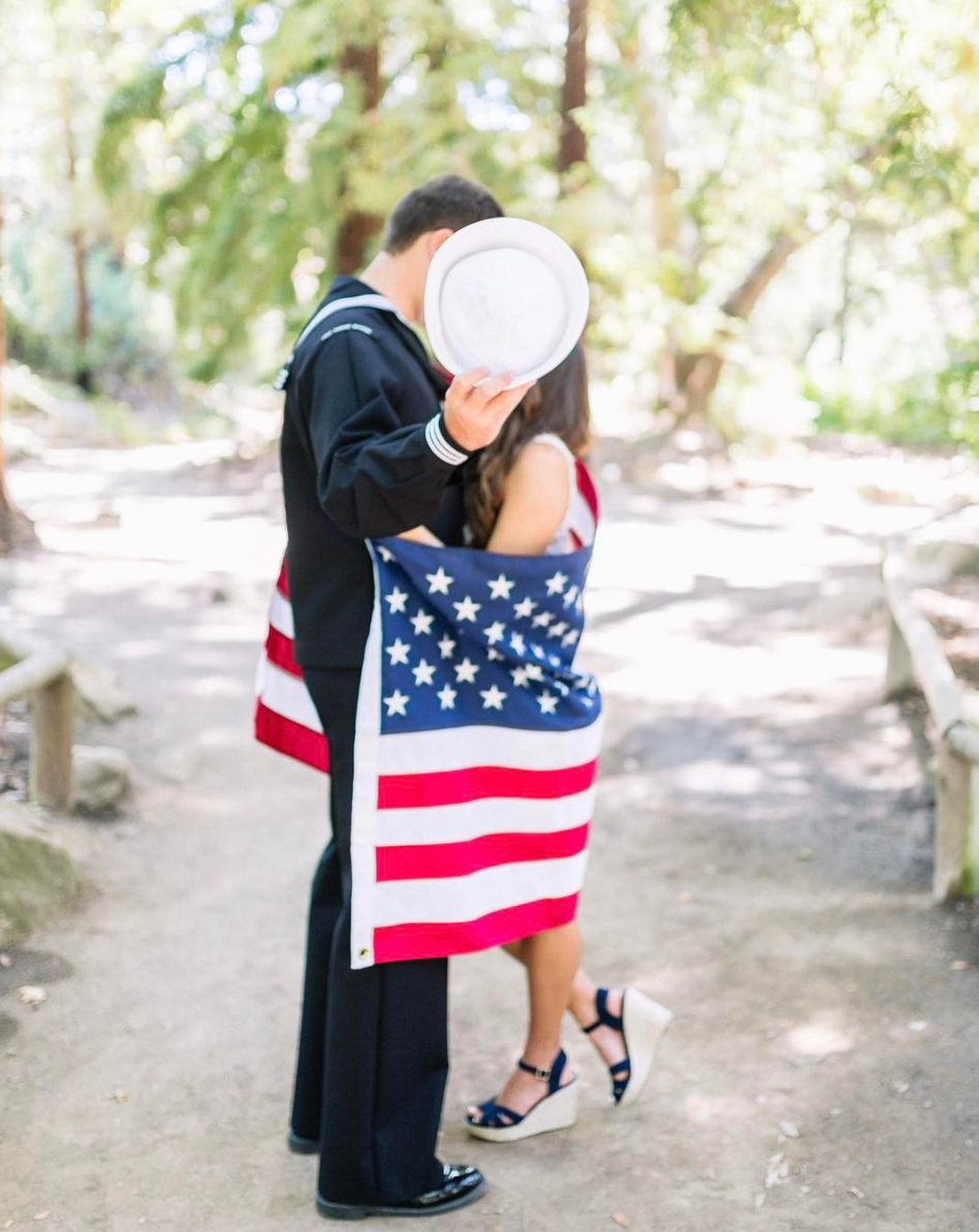 www.SantaBarbaraWedding.com | Kiel Rucker Photography | Bride and Groom Patriotic Love