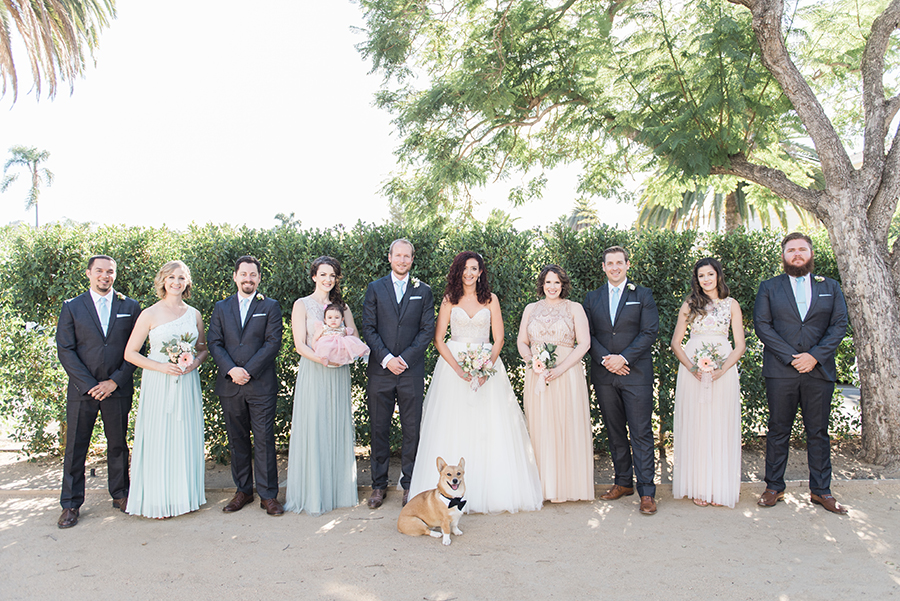 santabarbarawedding.com | Photo: Molly & Co. | Pastel Wedding Ideas and an adorable dog ring bearer